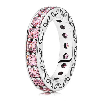 Pandora Infinity with Pink CZ Ring