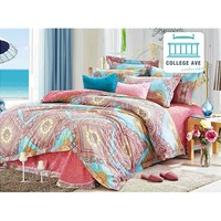 Persian Brush Twin XL Comforter Set - College Ave Designer Series Dorm Items College Supplies Cotton Bedding For College
