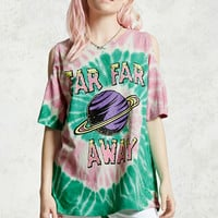 Tie Dye Open-Shoulder Tee
