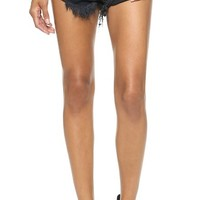One Teaspoon Fox Black Bandits Shorts