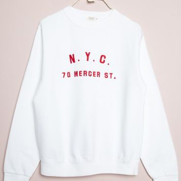 ERICA NYC 70 MERCER ST SWEATSHIRT