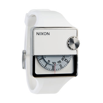 Nixon A237126 Men's The Murf White Rotating Dial White Rubber Strap Watch