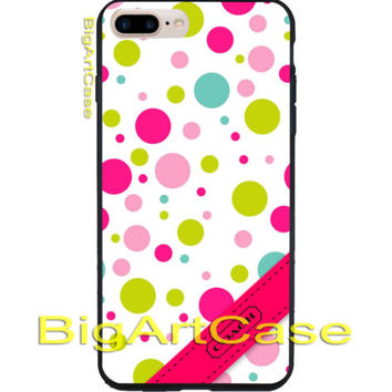 New Hot Coach Color Polkadot Print On Hard Plastic Case Cover iPhone 7, 7 plus