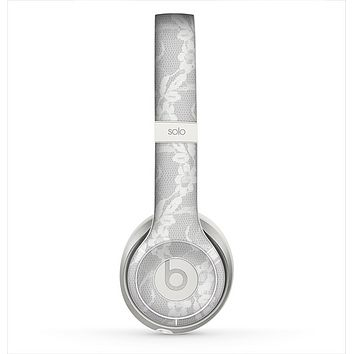 The White Floral Lace Skin for the Beats by Dre Solo 2 Headphones