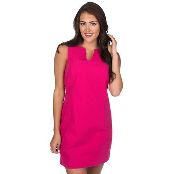 The Avery Solid Seersucker Dress in Raspberry by Lauren James