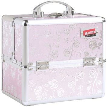 Professional Makeup Cosmetic Beauty Orgainizer Case Pink