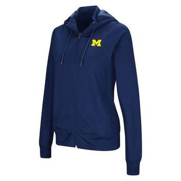 DCCKG8Q NCAA Michigan Wolverines Women's Medley Full Zip Hooded Sweatshirt