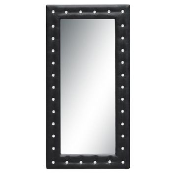 Tufted Mirror, Black