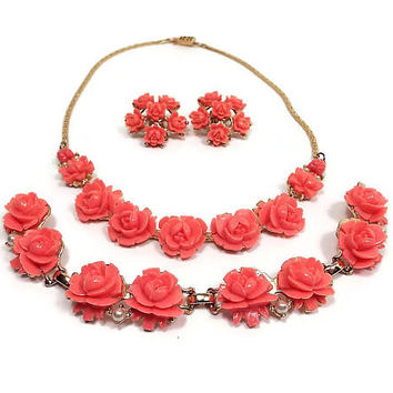 Shop Pink Coral Gold Jewelry on Wanelo