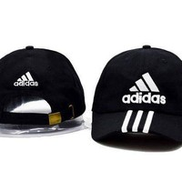 Black Adidas Women Men Sport Sunhat Embroidery Baseball Cap Hat