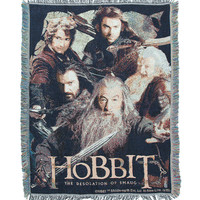 The Hobbit: The Desolation Of Smaug Fighting Company Woven Tapestry Throw