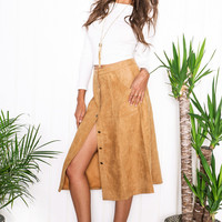 Mick Mid Suede Skirt