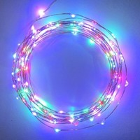 The Original Starry String Lights™ by Brightech - MultiColor LEDs on a Flexible Copper Wire - 20ft LED String Light with 120 Individually Mounted LED's - Set the Mood You Want Anywhere! - Perfect For Creating Instant Appeal in Any Setting - Parties, BBQs,