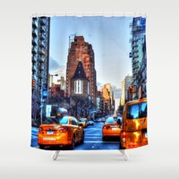 Downtown New York Shower Curtain by Haroulita | Society6