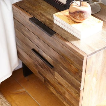 Pierce Gray Washed Bedside Chest