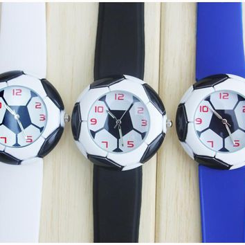 football watches sell like hot cakes. Football hand surface and silicone rubber band woman, man, fashion watches