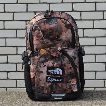 Supreme x The North Face Backpack Maple leaves