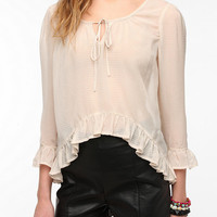 Urban Outfitters - Lucca Couture 3/4 Sleeve Breezy Peplum Blouse