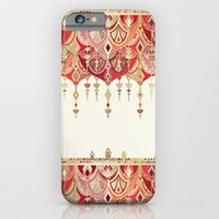 Royal Red Art Deco Double Drop iPhone & iPod Case by Micklyn | Society6