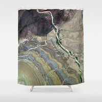 Grand Canyon bird's eye view #3 Shower Curtain by Kathrinmay