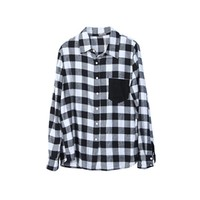 Comfortable Cotton Lattice Pocket Shirt