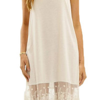 Slip Extender w/ Lace in Nude - One Left!