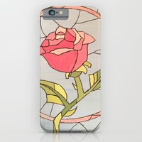 Stained Glass Window Rose iPhone & iPod Case by Sierra Christy Art