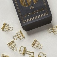 Folio Binder Clips by Anthropologie in Gold Size: