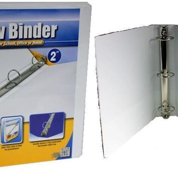 2 Inch ClearView Binder - White Case Pack 12