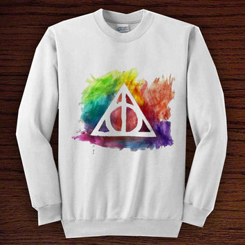 deathly hallows   for sweater men or women, trend unisex all colours men women