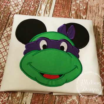 Ninja Turtle Mouse Custom embroidered Disney Inspired Vacation Shirts for the Family!