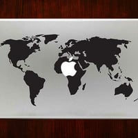 "World map m740 Design Decal Sticker Vinyl For Macbook Pro Air Retina 13"" 15"" 17"" Inch Laptop Cover"