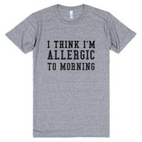 Morning-Unisex Athletic Grey T-Shirt