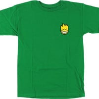 Spitfire Lil Bighead Fill Tee XLarge Kelly Green/Yellow