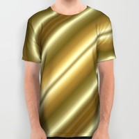 Gold and Cream All Over Print Shirt by Lena Photo Art