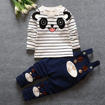 Korean Children Clothing Little Boys Clothes 2017 Cheap Baby Girl Clothes Long Sleeve Tshirt + Pants Toddler Suits kids Wear Boy