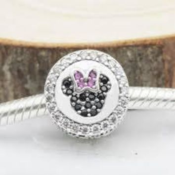 Pandora Disney Parks Mickey and Minnie Mouse Icon Charm Limited Edition