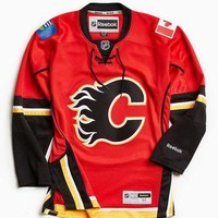 Reebok NHL Premium Flames Hockey Jersey - Urban Outfitters