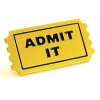 Admit It Ticket Enamel Pin - Hello Holiday