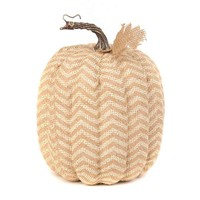 Tan Burlap Chevron Pumpkin | Kirklands