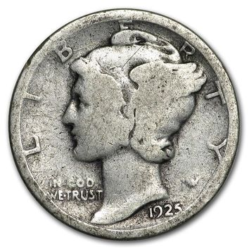 1925 Mercury Dime Good/VF