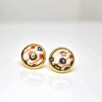 Artsy Stud Earrings / Artsy Jewelry / Artistic Earrings / 60s Mod Stud Earrings / Abstract Earrings / Graphic Jewelry / Unique Earrings