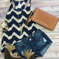 Shimmy in Chevron Tank