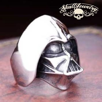 """Darth Vader"" Stainless Steel Ring (588)"