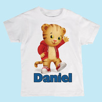 Kids Personalized Daniel Tiger Boys or Girls Shirt or Onesuit