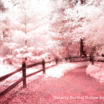 "Nature Photos- Dreamy Fine Art Nature -Ethereal Pink Trees- Fantasy Art - Surreal Art - Nature Scene Original Fine Art Photograph 8"" x 12"""