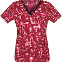 Buy Dickies EDS Women's V-Neck Printed Confetti Hearts Scrub Top for $14.95