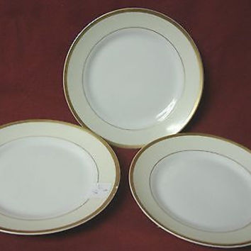 Noritake, China dinnerware M Nippon, Cream band,  set 3 Bread plate
