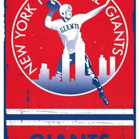 New York Giants Retro NFL Logo Poster 22x34