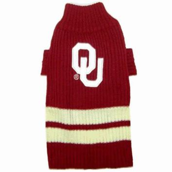 DCCKGW6 Oklahoma Sooners Dog Sweater